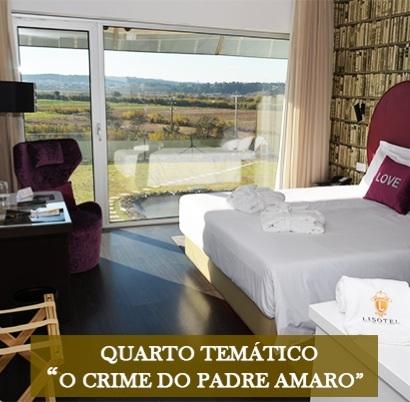 """Quarto temático """" Crime do Padre Amaro """" do Lisotel**** – Regueira de Pontes, Leiria"""